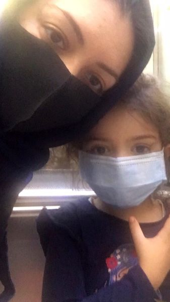آزاده نامداری و دخترش + عکس