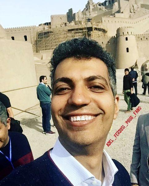 عادل فردوسی پور در ارگ بم + عکس