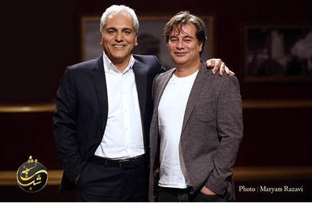 مهران مدیری در کنار نویسنده دوست داشتنیش + عکس