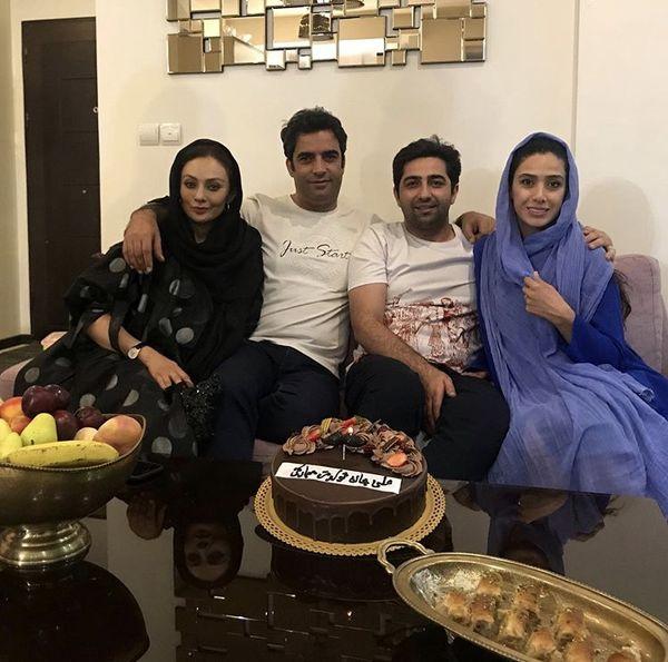 منوچهر هادی و یکتا ناصر در خانه دوستشان + عکس