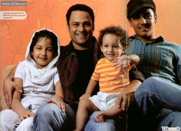 عکس حسین یاری و بچه هایش