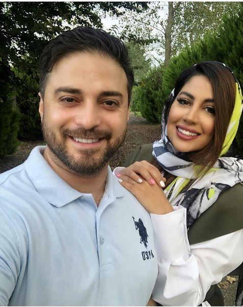 بابک جهانبخش و همسرش در جنگل + عکس
