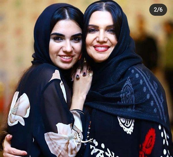 شباهت خانم بازیگر و دخترش+عکس