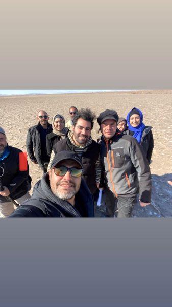 کویر گردی امیرمحمد زند با دوستانش + عکس