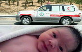 تولد عجیب نوزادی در آمبولانس هلال احمر!