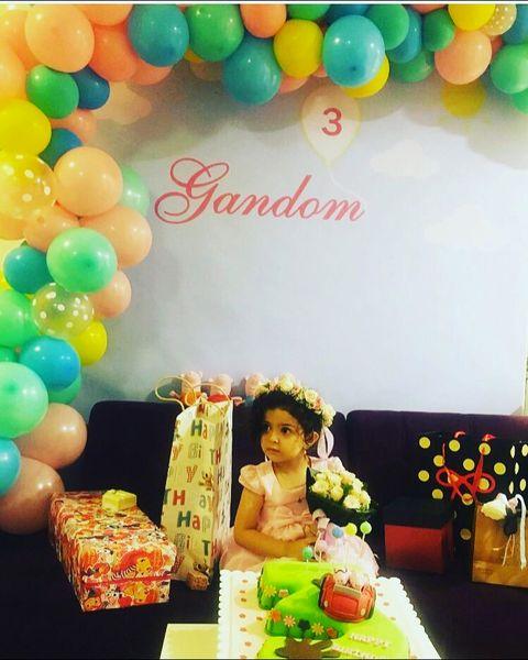 جشن تولد با سلیقه دختر آزاده نامداری