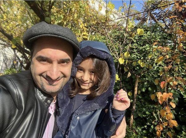 سلفی نیما کرمی با دخترش + عکس