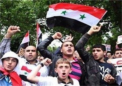 تظاهرات مردم طرطوس در حمایت از ارتش سوریه