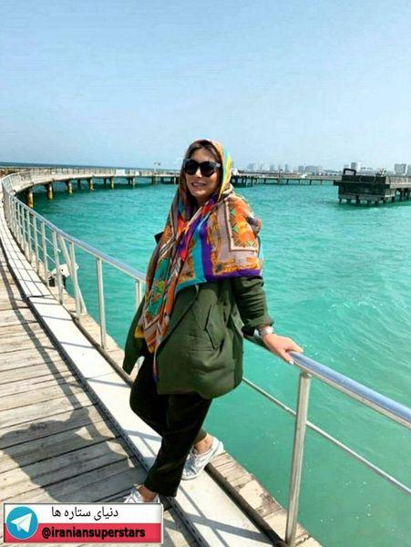 فریبا نادری برای تعطیلات لب دریا+عکس