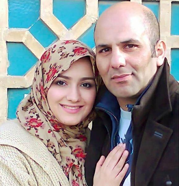 عکس عاشقانه خانم مجری و همسرش