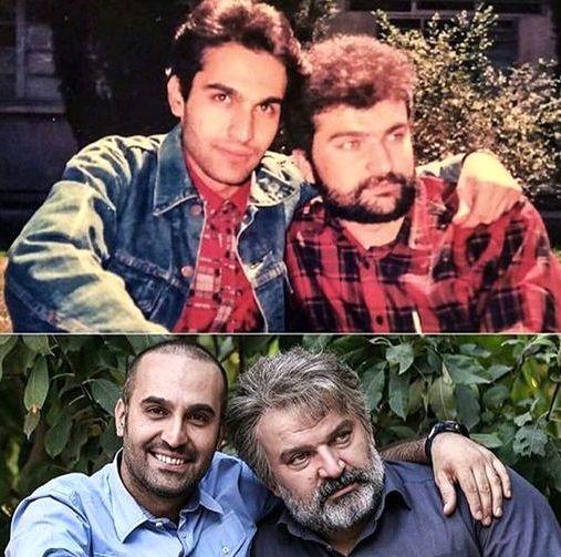 عکس دو رفیق قدیمی بازیگر که مثل پدر و پسر شده اند!