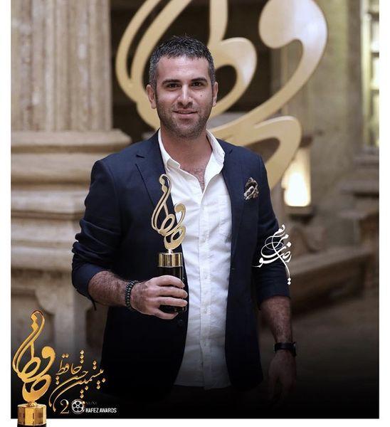 هوتن شکیبا برنده تندیس حافظ بهترین بازیگر مرد سینما + عکس