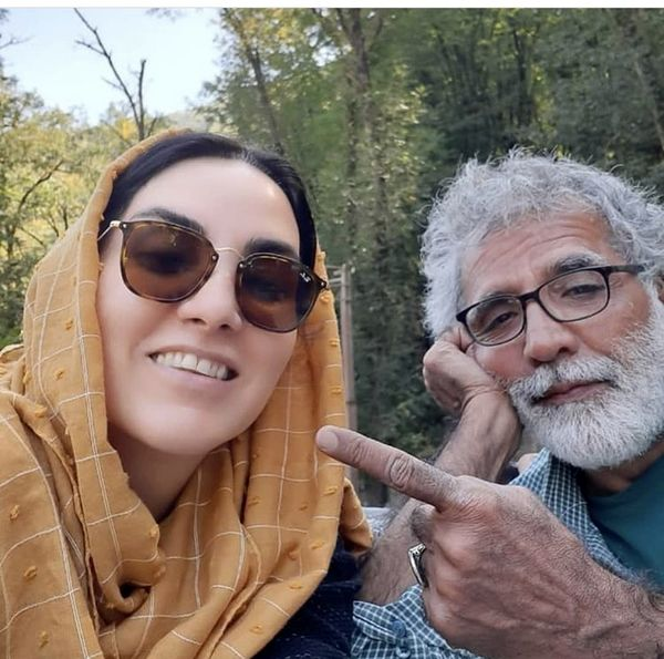 خانم بازیگر در کنار همسر کارگردانش + عکس