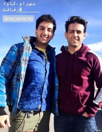 امیرحسین آرمان در کنار دوست لات بازیگرش+عکس