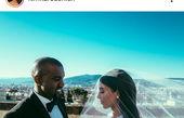 عکس عروسی کیم کارداشیان