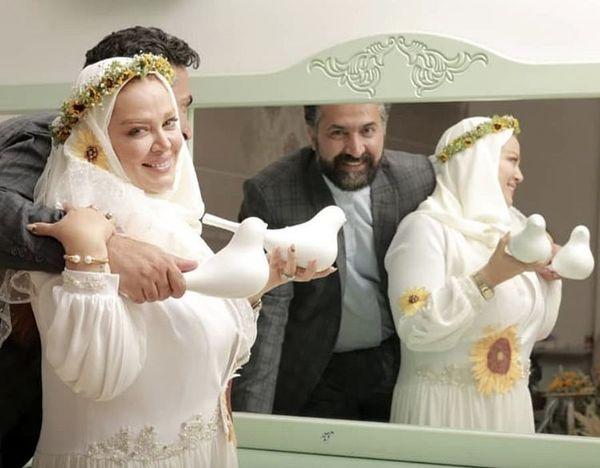 عاشقانه ای دیگر از بهاره رهنما و همسرش + عکس