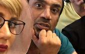 آرش احمدی در کنار نصرالله رادش و همسرش + عکس
