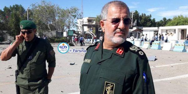 سردار پاکپور در محل حادثه تروریستی چابهار حضور یافت