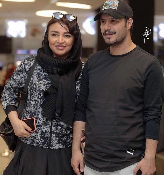 تیپ جواد عزتی و همسرش در یک مراسم + عکس
