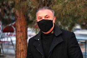 حمید درخشان در مراسم خاکسپاری علی انصاریان + عکس