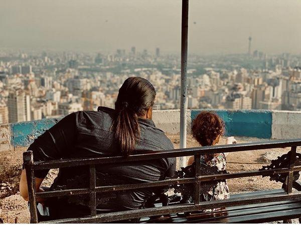 رضا صادقی و دخترش + عکس