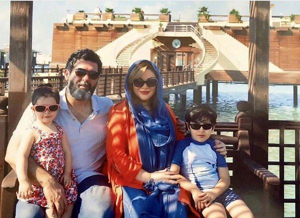 مصطفی کیایی وهمسر و فرزندانش در سفر + عکس