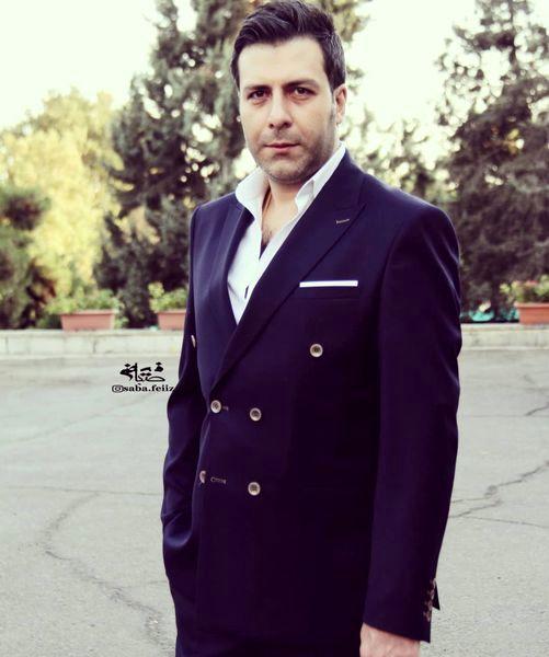 مجید واشقانی با تیپ رسمی در خیابان + عکس