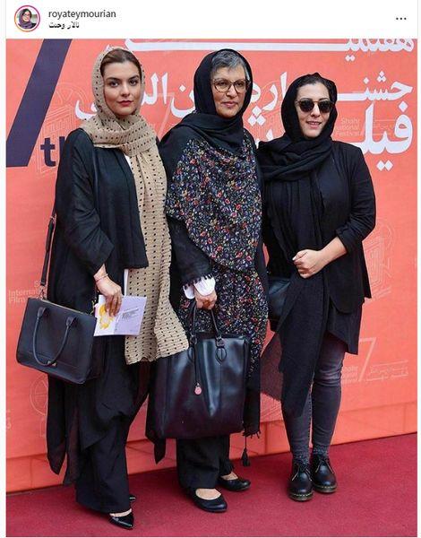 رویا تیموریان و دختر بازیگرش در جشنواره فیلم شهر+عکس