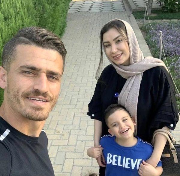 جدیدترین عکس ستاره فوتبال با همسرش