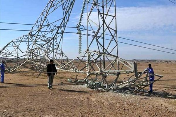 باران ، برق جنوب عراق را قطع کرد