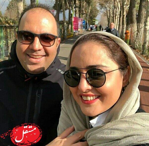 پارک گردی پاییزی نرگس محمدی و همسر بازیگرش+عکس