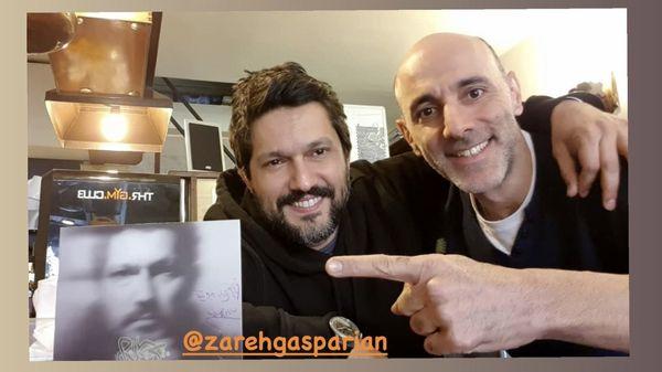 حامد بهداد در کنار دوستش + عکس
