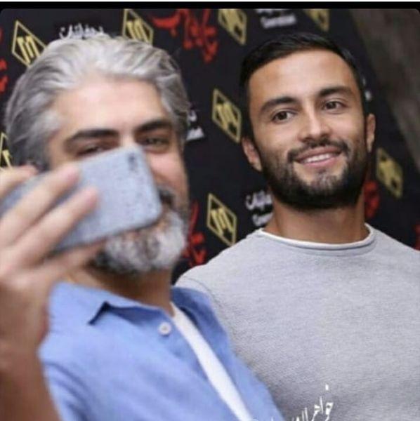 سلفی امیر جدیدی با بازیگر همگناه + عکس