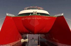 رونمایی از کشتی تفریحی خورشیدی که بدون توقف دور دنیا میرود / عکس