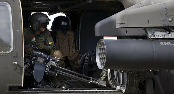 سقوط بالگرد نظامی در کلمبیا ۹ کشته برجا گذاشت