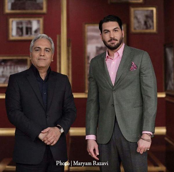 دروازه بان مشهور در کنار مهران مدیری + عکس