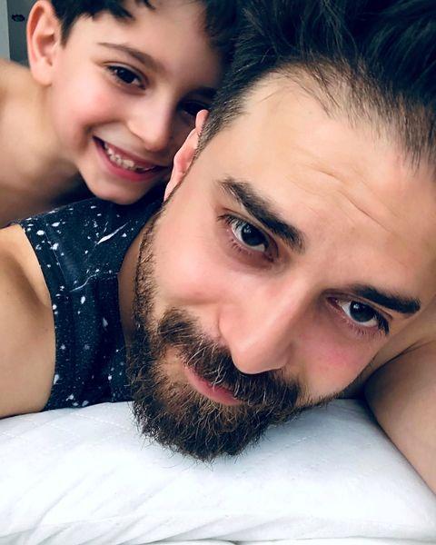 بابک جهانبخش با پسر شیطون زیباش+عکس