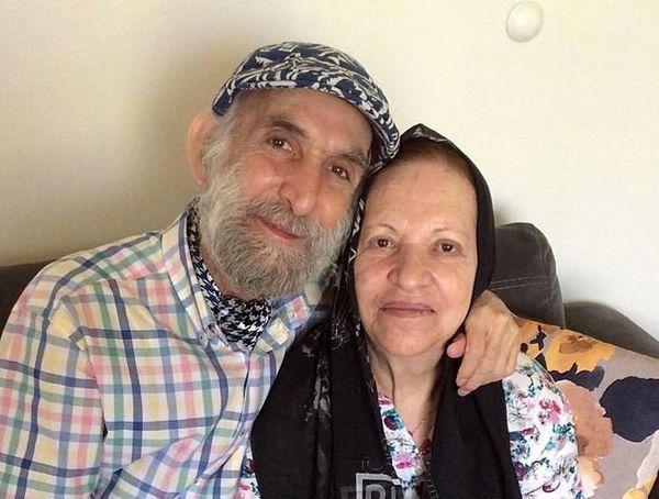 پیرمرد نورانی فیلم ها در کنار خواهرش+عکس