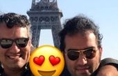 سفر رضا یزدانی و رفیق بازیگر خوشتیپش به پاریس+عکس