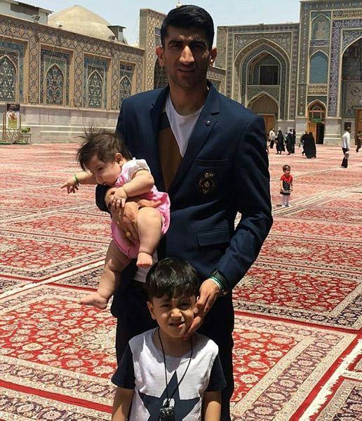 علیرضا بیرانوند و فرزندانش در مشهد