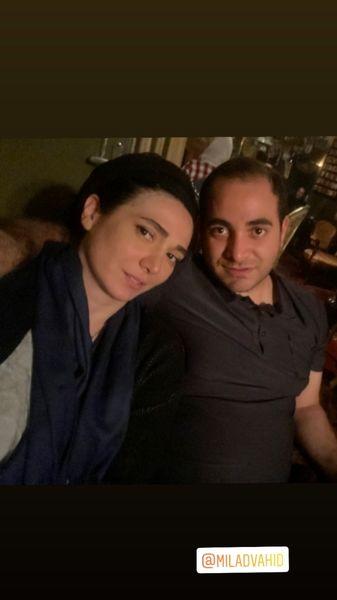 مینا وحید و برادرش + عکس