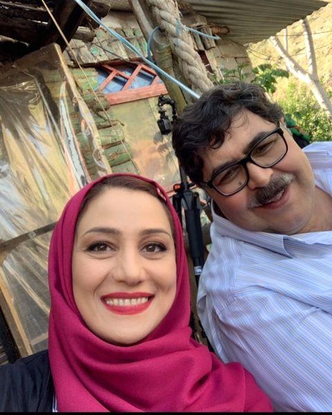 شبنم مقدمی با همسرش در هیولا+عکس
