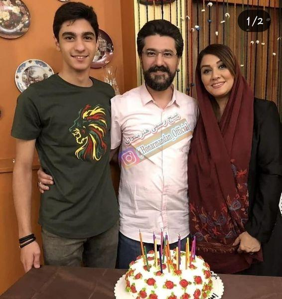 امیرحسین مدرس و همسر و پسر رشیدش+عکس