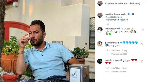 نظرات بازیگران درباره استایل نوید محمدزاده در ونیز+عکس
