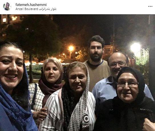 گردش بازیگر طنز مهران مدیری و خانواده در پارک