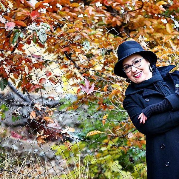 شادی معصومه کریمی در پاییز+عکس