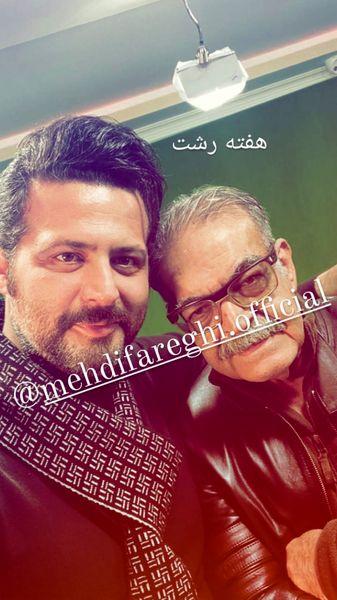 سلفی حمید لولایی با دوستش + عکس