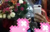 آنا نعمتی با دسته گل بزرگش+عکس