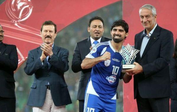 حضور علی کفاشیان در جشن قهرمانی عراقیها
