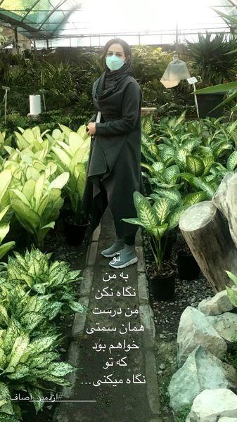 شقایق دهقان در گلخانه ای زیبا + عکس